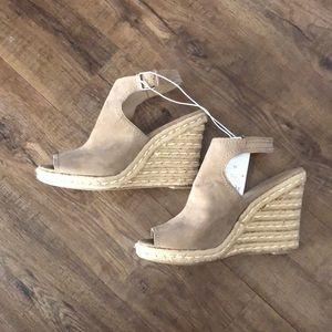 Merona | Suede Taupe Wedge Heels - NWT